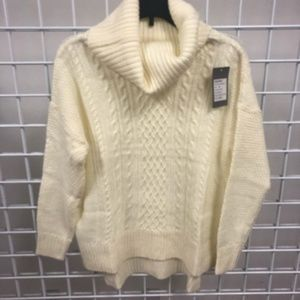 VERO MODA  COW NECK SWEATER- IVORY